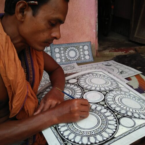 Artisan at work_raghurajpur